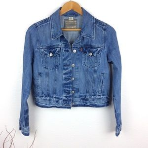 Levi's Cropped Distressed Jacket
